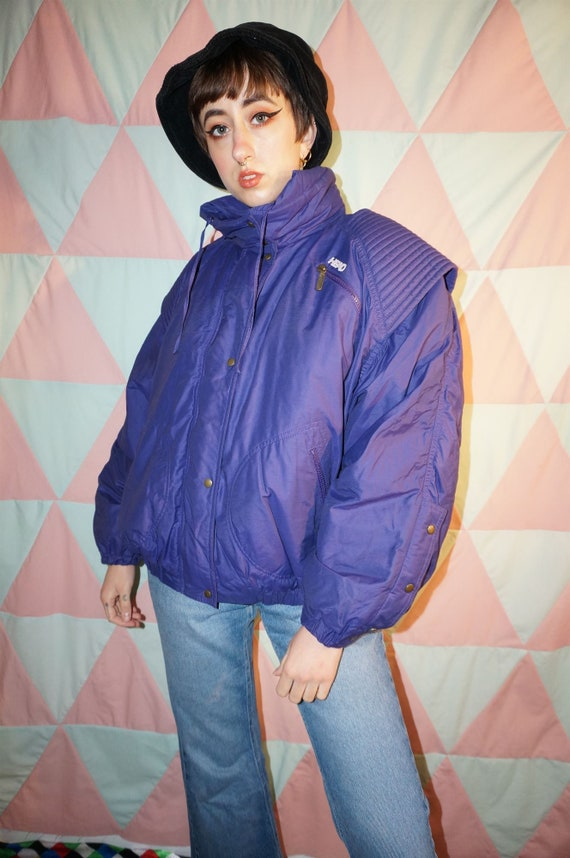 Vintage 80s Head Purple Ski Puffer Jacket