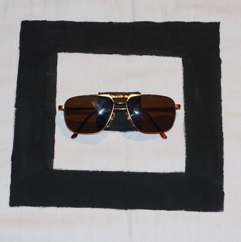 Vintage 90/'s  Y2K Bronze Square Aviator Sunglasses