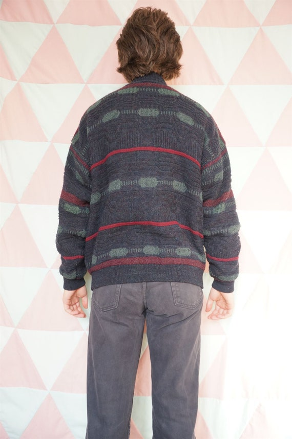 Vintage 90s Grungy Suede Patched Padded Lined Car… - image 4