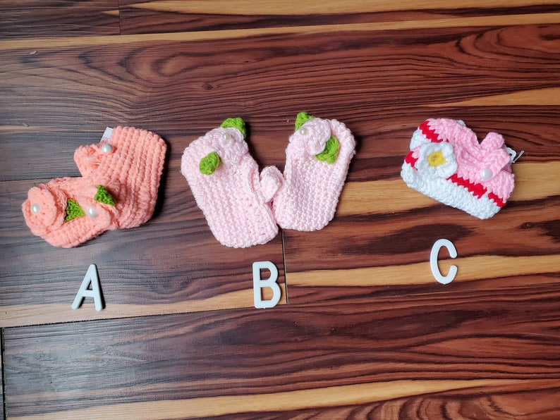 NEWBORN 13 Crochet Hats Newborn to Infant Size Christmas Clearance Ready to Ship Individual Hats and Booties