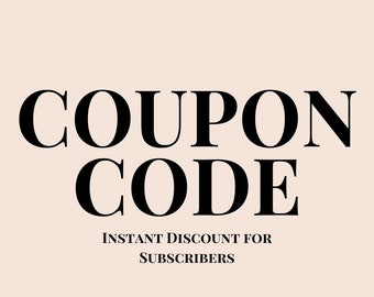 coupon code for first time buyer