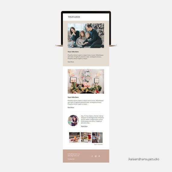 Mailchimp Template Christmas Newsletter Template Email Etsy