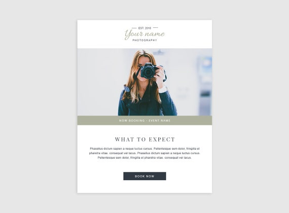 Email Template Photographer Photography Email Templates Etsy