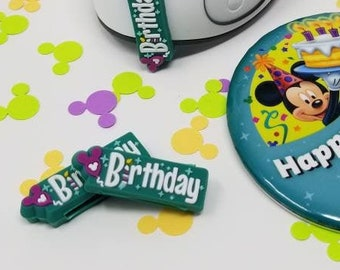 Birthday Slider for use with Disney Magic Bands   soft PVC   MagicBand fastener charm accessory