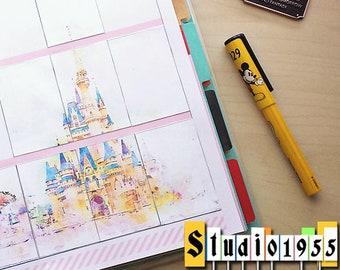 Big Happy Planner printable stickers - Cinderella Castle