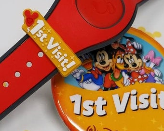 1st Visit slider for use with Disney Magic Bands   First Visit MagicBand fastener charm accessory