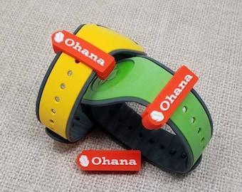 OHANA Slider for use with Disney Magic Bands   Ohana means family   soft PVC   MagicBand