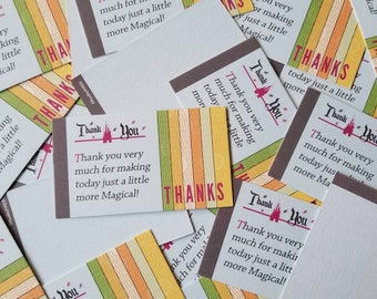 6-pack Cast Member thank you cards   Cast Compliment   Cast Member appreciation   Vintage Disney ticket