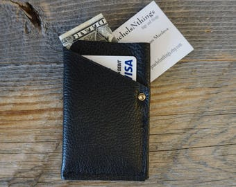 Soft Leather 3 compartment Front Pocket Wallet / Card Holder ~ Credit Cards / ID Wallet / Money