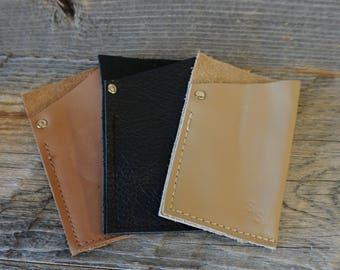 Soft Leather Front Pocket Wallet / Card Holder ~ Credit Cards / ID Wallet / Money