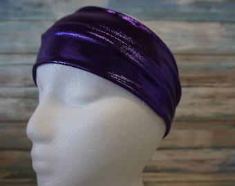 Athletic Headband, Yoga Headband, Running Headband, Purple Sparkle Headband, Pilates Headband