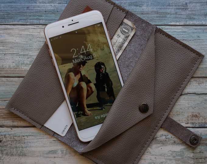 Featured listing image: Leather Wallet ~ Phone Case Wallet ~ Credit Card Wallet