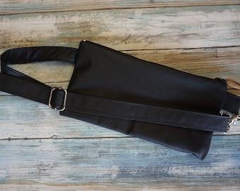Leather Zip Fanny Belt ~ Fanny Pack ~ Music Festival Belt ~ Travel Money Belt ~ Concert Belt ~ Leather Bum Bag ~ Leather Fanny Pack