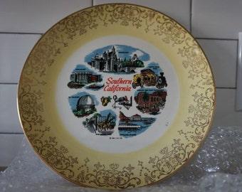 Vintage Souvenir 1961 So Cali Plate