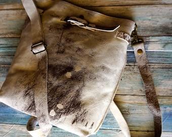 Genuine Leather Back Pack Convertible Cross Body Shoulder Bag