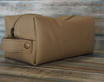 Leather Dopp Kit, Travel Toiletry Bag, Travel Bathroom Bag