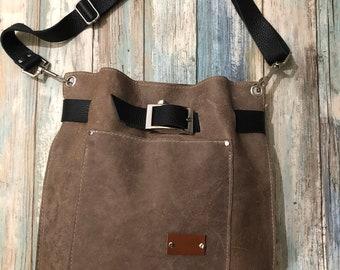 Leather Tote Bag, Shoulder Bag, Leather Purse, Crossbody Leather Pouch/Bag, Hobo Leather Tote