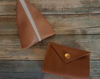 Bi Fold Leather Wallet - Plus - Soft Leather Coin Purse Gift Bundle