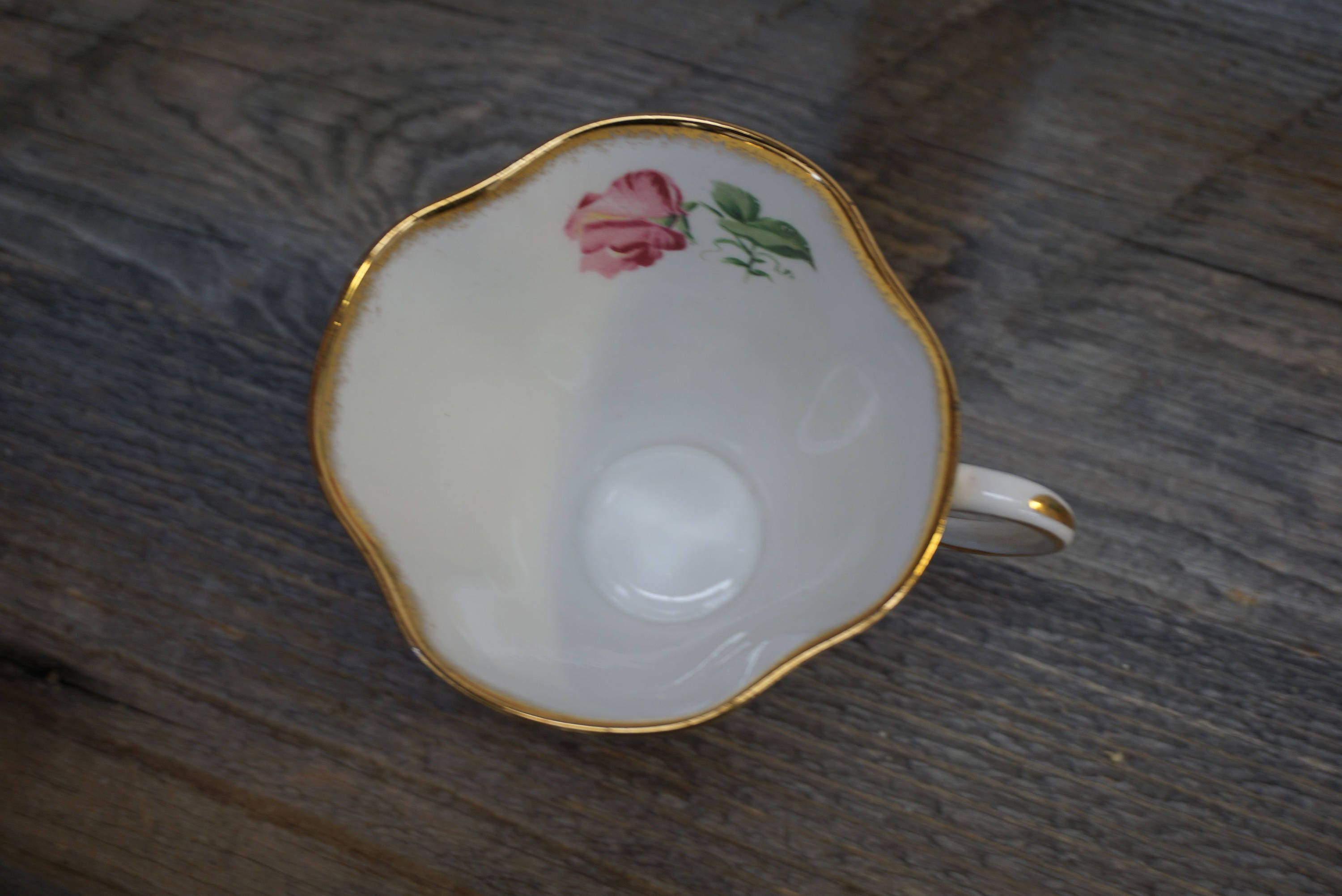 Vintage Tea Cup Gold Trim Made In England Clarence
