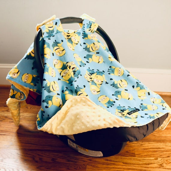 Brilliant Minions Baby Car Seat Canopy Baby Car Seat Cover Carseat Canopy Car Seat Canopy Girl Car Seat Cover Boy Baby Shower Gift Andrewgaddart Wooden Chair Designs For Living Room Andrewgaddartcom
