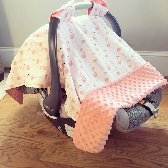 Flamingo Baby Car Seat Canopy Baby Car Seat Cover Girl Etsy