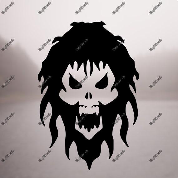 skull decal skull sticker laptop sticker laptop decal etsy