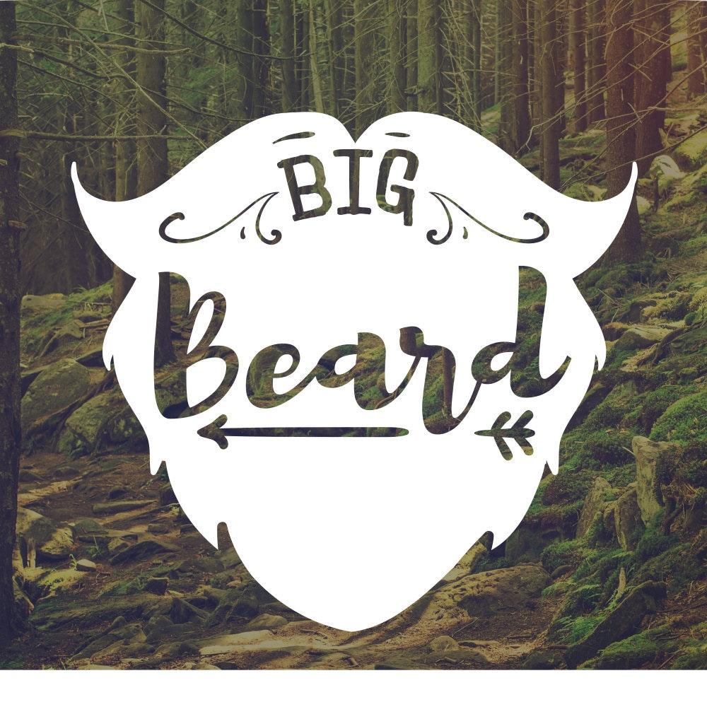 Vinyl decal man decal big beard decal beard decal car decal laptop stickers bumpersticker mancave decal gift for men truck