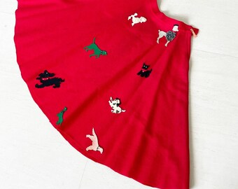 Cute Dachshund Skater Skirt Sausage Dog Skirts Women Ladies
