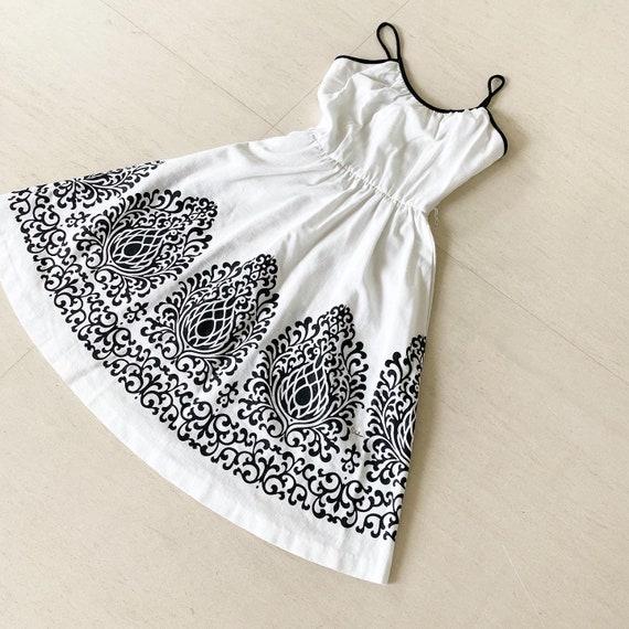 Classic Black and White Shaheen Sundress