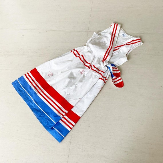 Gorgeous 60s Nautical Inspired Dress with Pockets