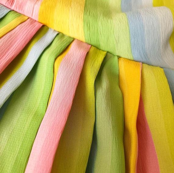 Pretty Pastel Rainbow 50s Dress - image 5