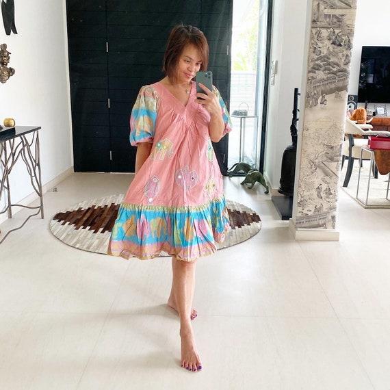 Adorable animal novelty print boho chic dress