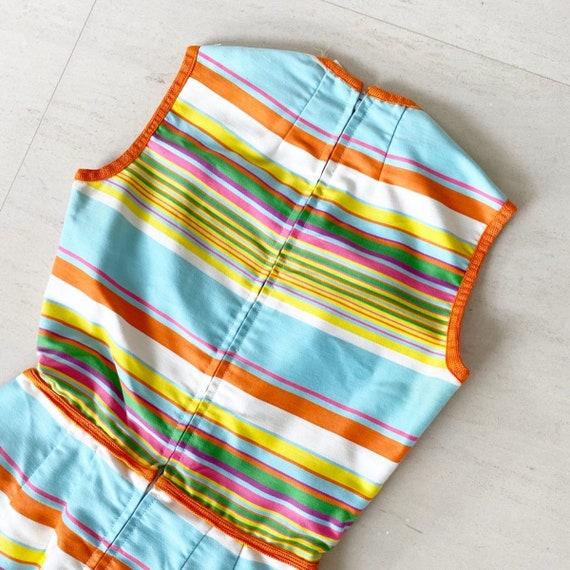 Gorgeous 60s Rainbow Stripe Pat Premo Dress - image 6