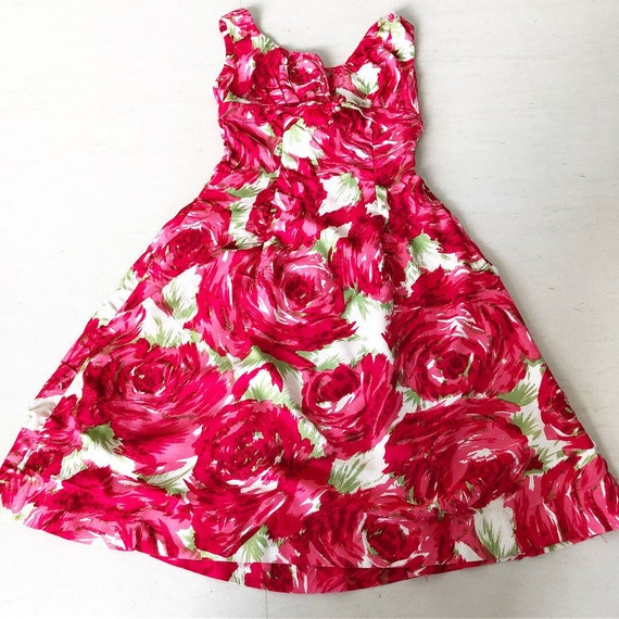 Stunning Suzy Perette Abstract Rose Print Dress