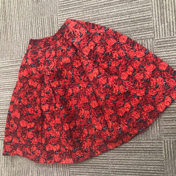 Traffic Stopping Rose Print Sportaville Skirt