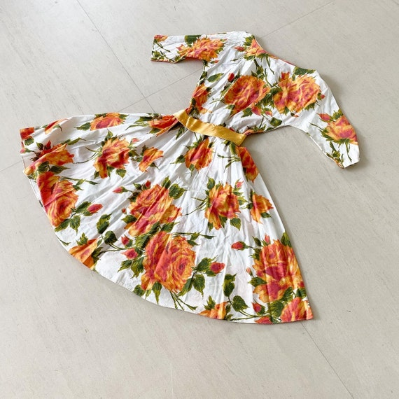 Pretty Orange Roses Sundress