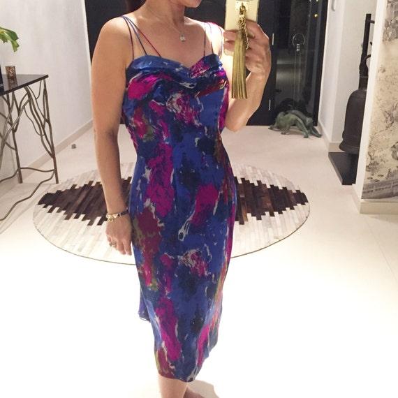 Lovely 50s Carol Robins chiffon dress - image 1
