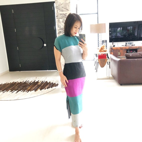 Gorgeous Color Block 40s Cheongsam
