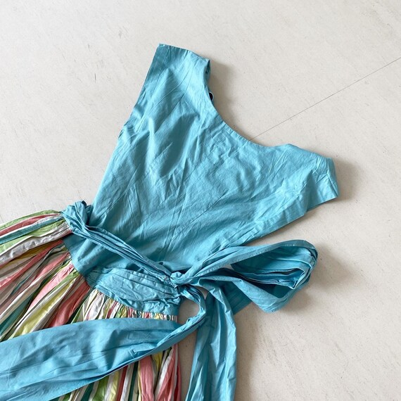 Pretty Pastel Rainbow Striped Dress - image 8