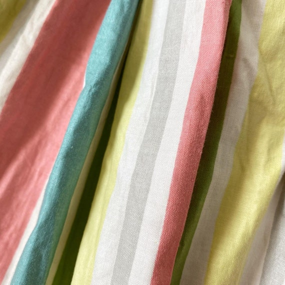 Pretty Pastel Rainbow Striped Dress - image 6