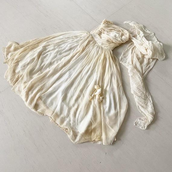 Gorgeous Silk Chiffon Ceil Chapman Dress with Matc