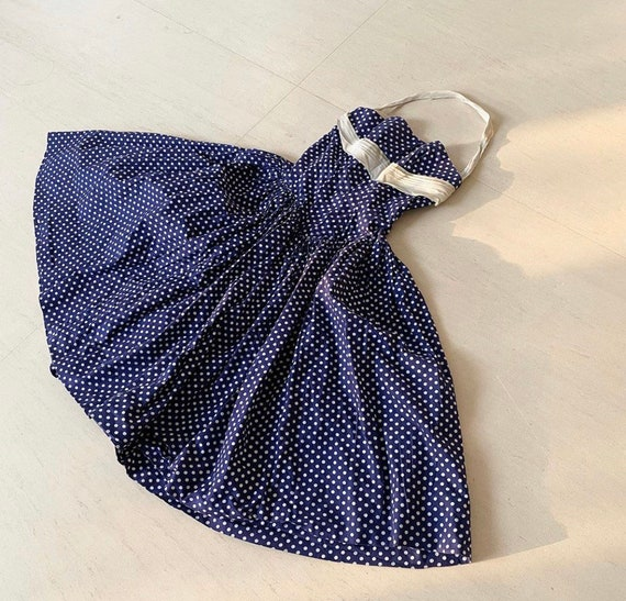 Gorgeous Polka Dot Fred Perlberg 50s Halter Dress