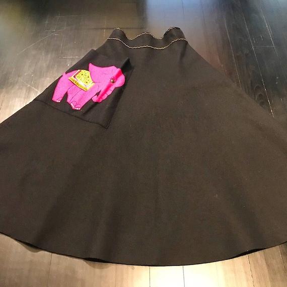 1950s Novelty Elephant Skirt
