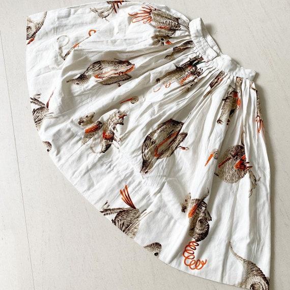 Rare Novelty Wicker Purse Print Skirt
