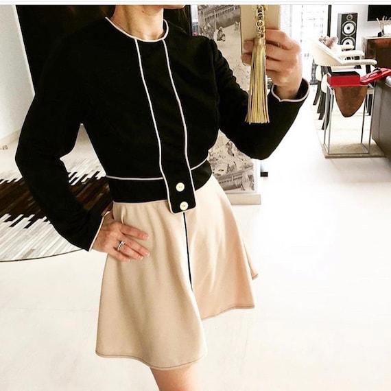 Sassy Chic 60s Mini Dress