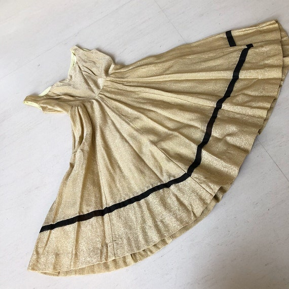 Vavavoom 50s Gold Lame Sundress
