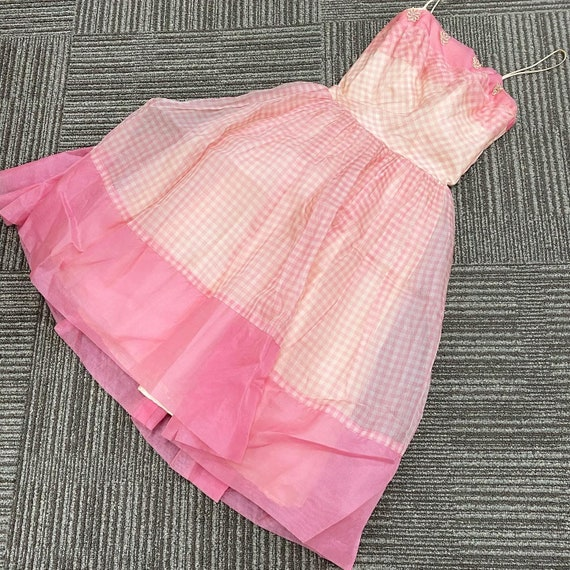 Pretty in Pink 50s Gingham Dress