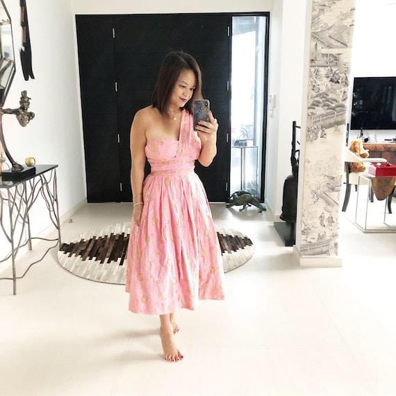 Gorgeous Greta Plattry Indian Inspired Pink Dress