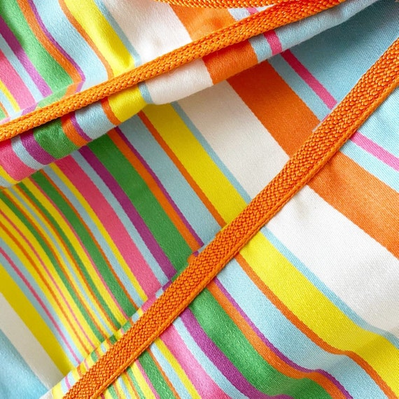 Gorgeous 60s Rainbow Stripe Pat Premo Dress - image 4