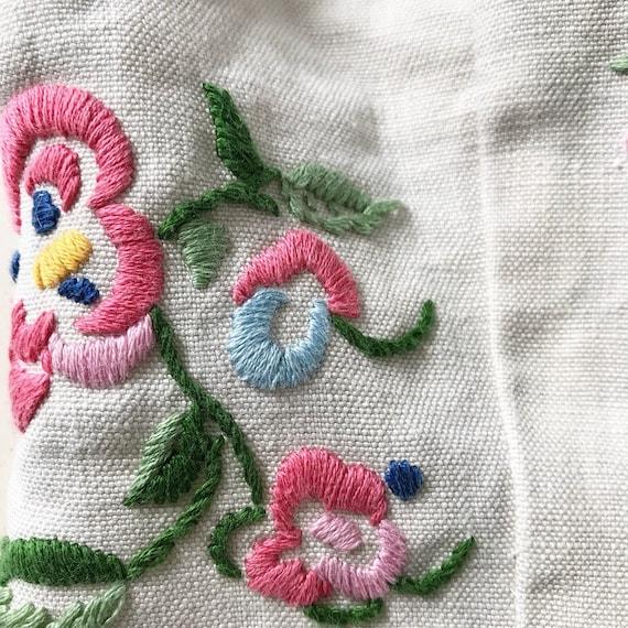 Rare 1930s Linen Embroidery Peplum Blouse - image 7